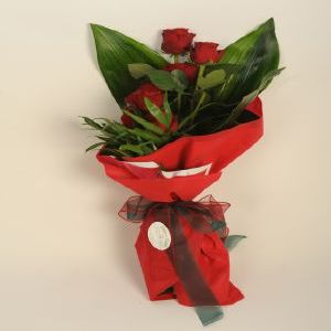 Salon Des Fleurs-Bouquet with Seven Red Roses