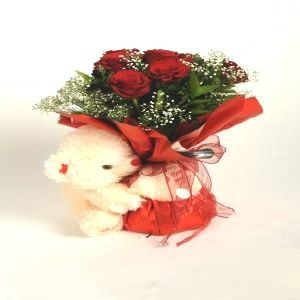 Salon Des Fleurs-Bouquet with Teddy