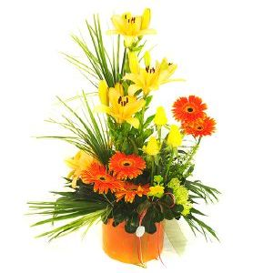 Salon Des Fleurs-Orange & Yellow Arrangement