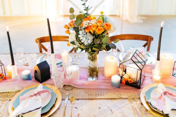Salon Des Fleurs Candle Arrangements