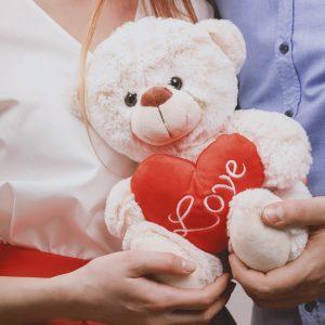 Salon Des Fleurs Love Teddy Bear