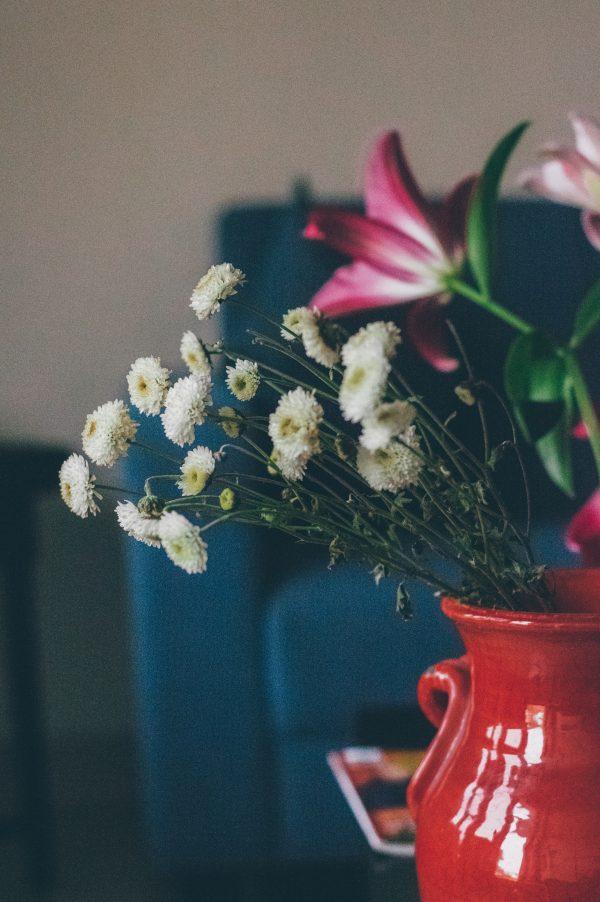 Salon Des Fleurs Pink White Christmas Bouquet