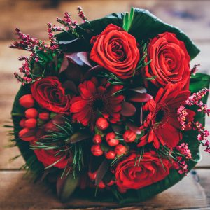 Salon Des Fleurs Red Christmas Arrangement