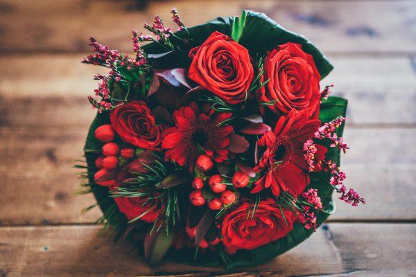 Salon Des Fleurs Red Christmas Arrangement
