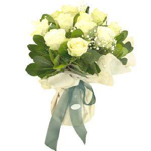 Salon Des Fleurs-White Roses Bouquet