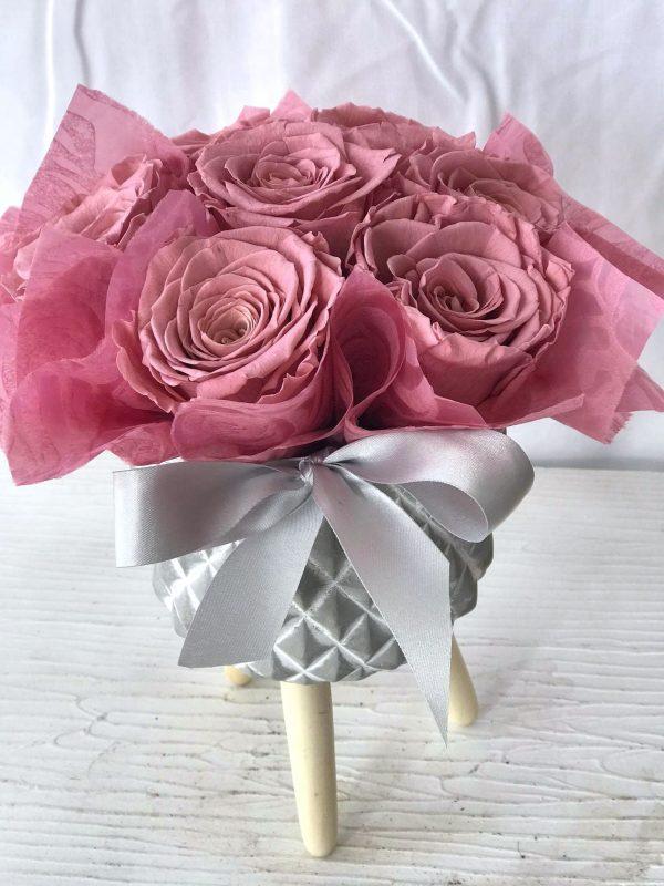 Dusty Pink Forever Roses-Salon Des Fleurs