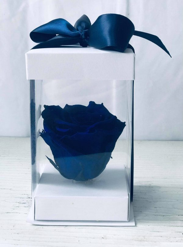 Single Blue Forever Rose-Salon Des Fleurs